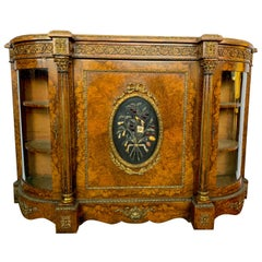 19th Century French Figured Walnut Credenza