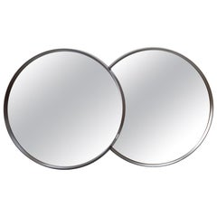 Set of Two Midcentury Circle Mirrors, 1970s