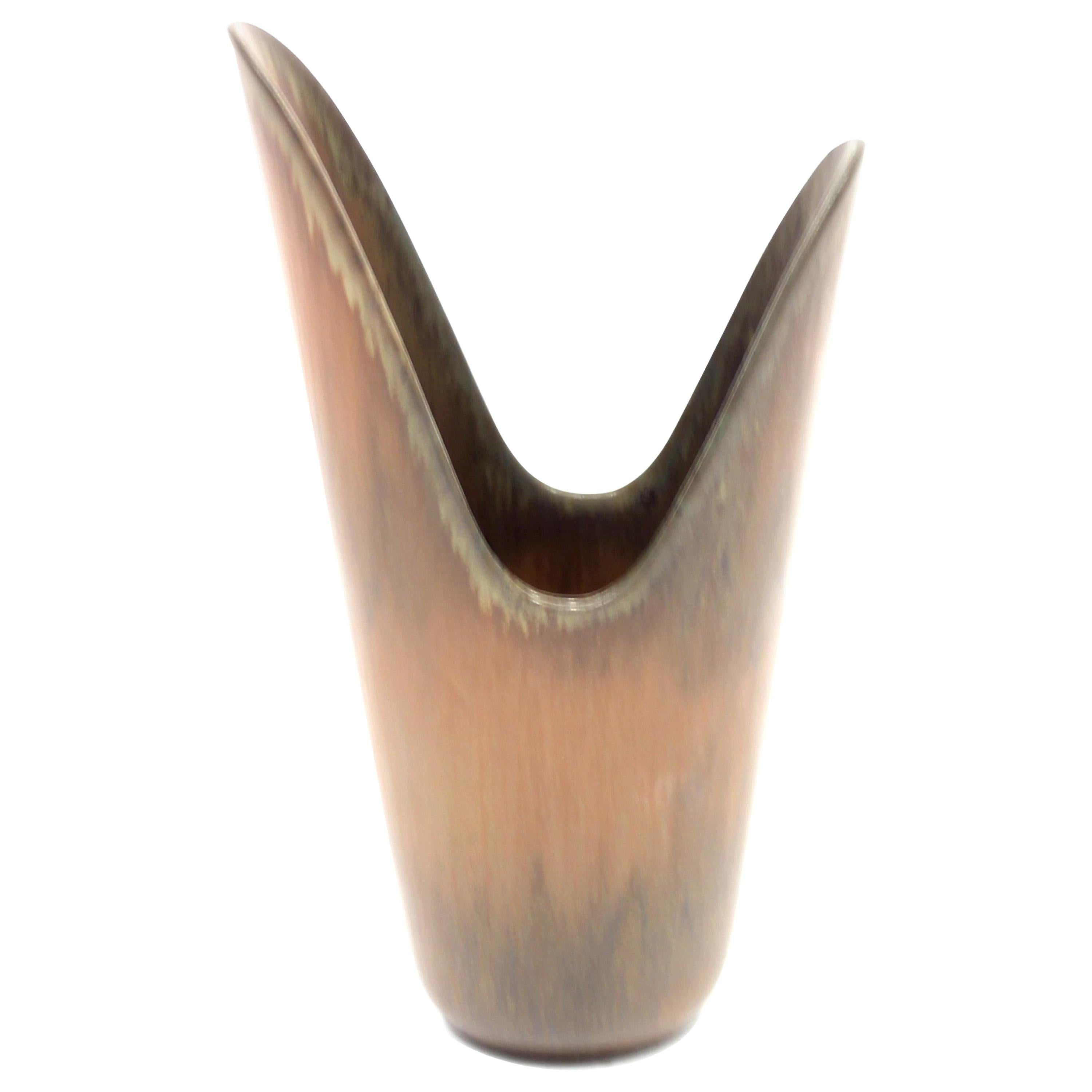 Pike's Mouth Vase by Gunnar Nylund for Rörstrand, 1950s