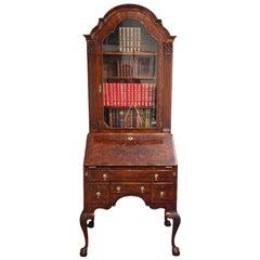 George I Style Walnut Bureau Bookcase