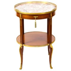 Antique French Louis Revival Marble and Ormolu Occasional Table, 19th Century