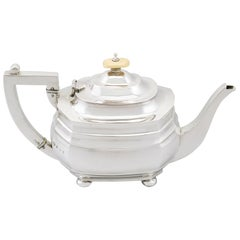 Antique George V English Sterling Silver Teapot