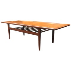 Danish Midcentury Teak Coffee Table by Grete Jalk for Glostrup