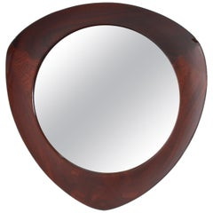 20th Mid-Century Modern Design Wood Framed Mirror