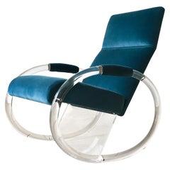 Charles Hollis Jones designed Lucite Rocking Chair 1970s