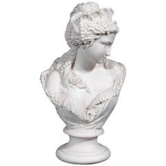 Copeland Parian Ware Bust of Flora, circa 1870