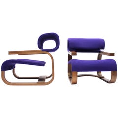 Pair of Chairs by Jan Bočan for the Czechoslovakian Embassy, Stockholm, 1972