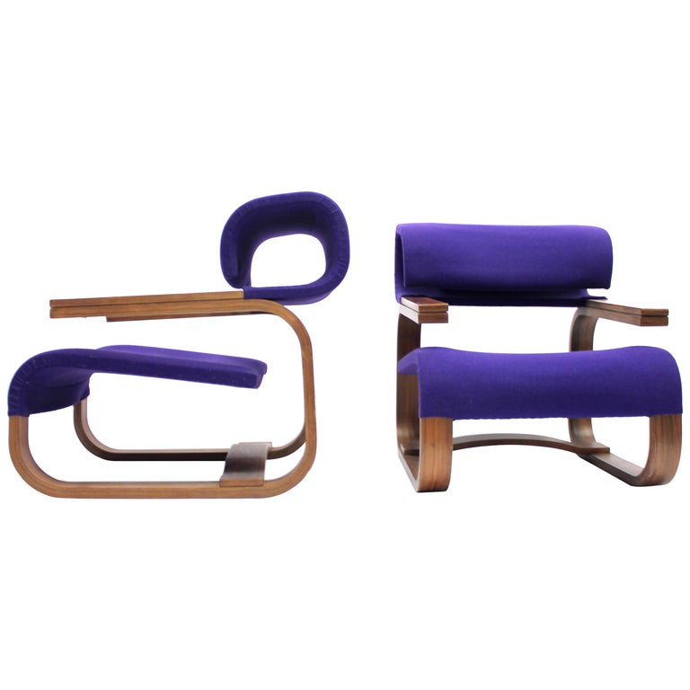 Pair of Chairs by Jan Bočan for the Czechoslovakian Embassy, Stockholm, 1972 For Sale