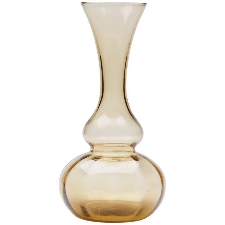 Murano MVM Cappelin Soffiati Glass Knop Neck Vase, circa 1925 For Sale