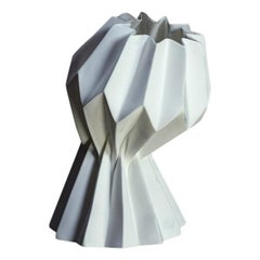 """Slump"" Contemporary Origami Ceramic Vase by Studio Morison, Slight Slump Type"