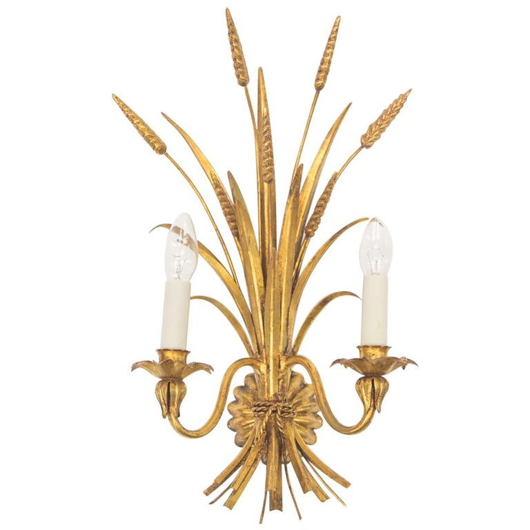 Large Wheat Sheaf Wall Light by Hans Kögl, Germany, 1970s For Sale