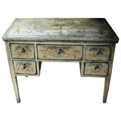 18th Century North Italian Polychrome Painted Centre Table / Desk, circa 1780