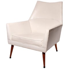 White Mid-Century Modern American 'Squirm' Lounge Chair by Paul McCobb