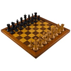 Boxed Set of Tournament Size Chessmen, circa 1930