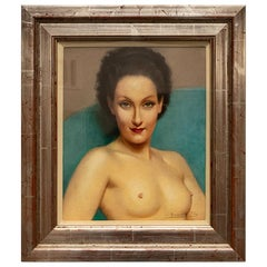 Pastel Portrait Female Nude