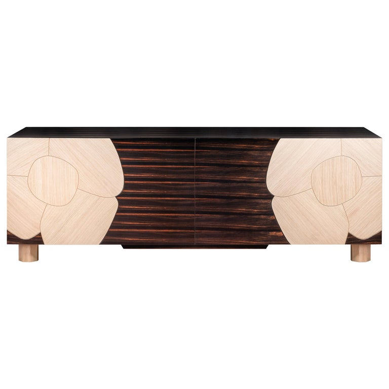 Sideboard Andy, in Ebony Wood Finish, Italy For Sale
