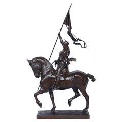 19th Century Bronze of Jeanne D'Arc