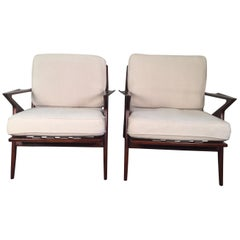 Poul Jensen for Selig, Z Chairs, a Pair