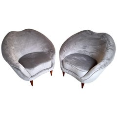 Pair of Italian Armchairs by Federico Munari, Italy, 1960s