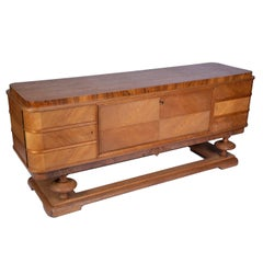 Oak Sideboard Buffet with Lined Canteen Interior for Cutlery