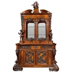19th Century Dutch Bureau Bookcase