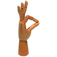 Articulating Wood Hand Sculpture Piece