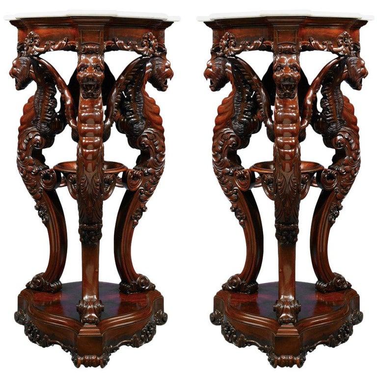 Irish Rosewood Pedestals For Sale