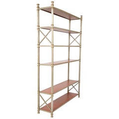 Brass and Steel Etagere