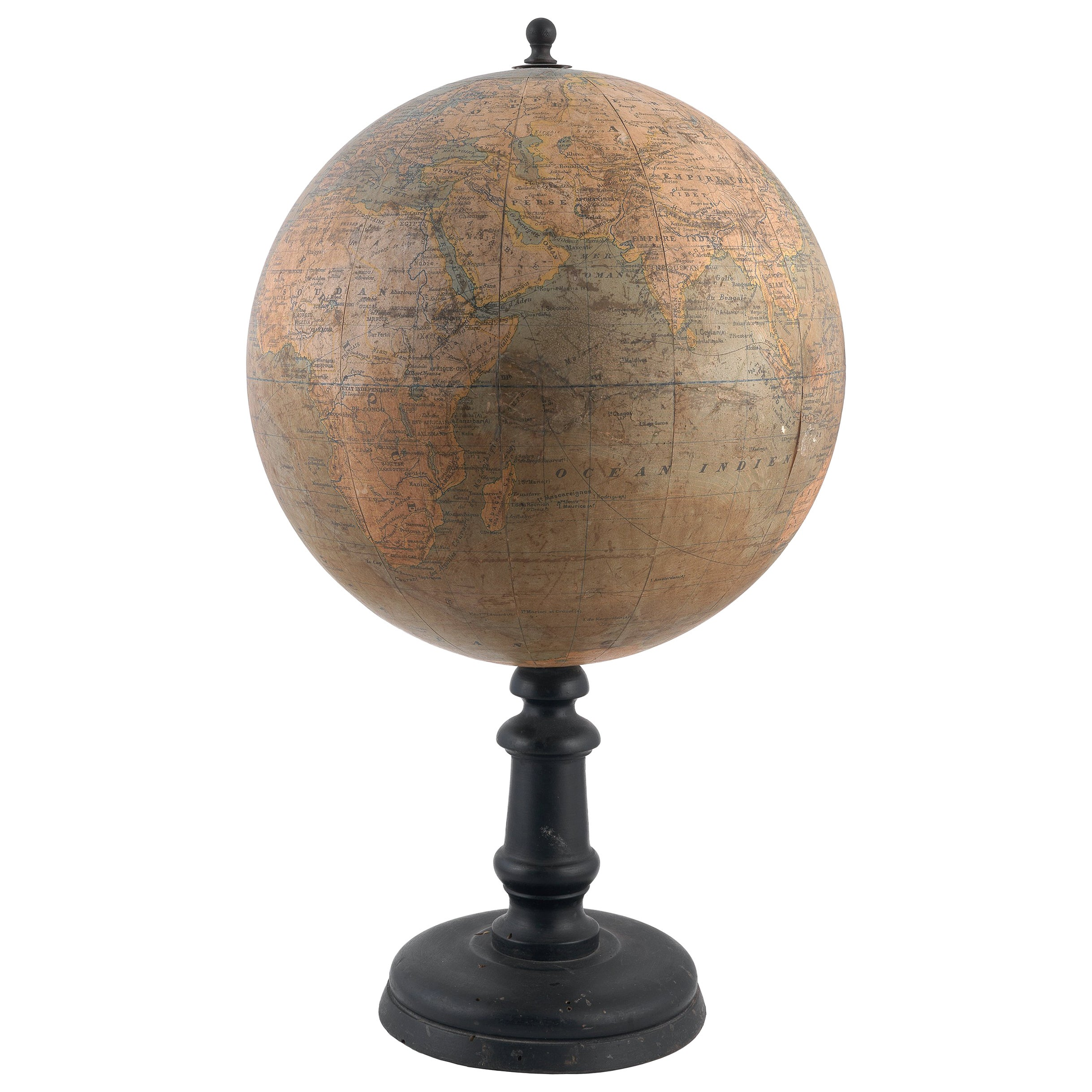 Late 19th Century Terrestrial Globe, French