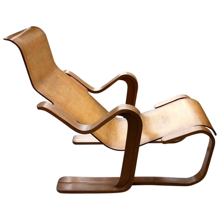 Rare Original 1930s Marcel Breuer Bent Plywood Short Chair for Isokon, UK For Sale