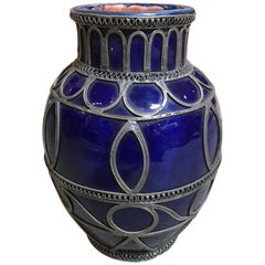 Small Blue Moroccan Pot