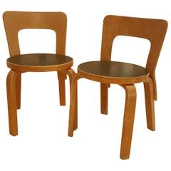 Vintage Alvar Aalto/Artek N65 Children's Chairs