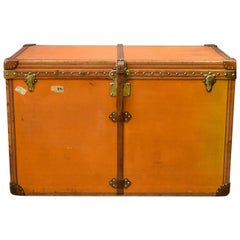 Large Louis Vuitton Orange Steamer Trunk, circa 1925