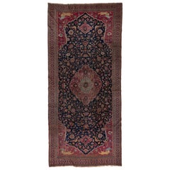 Unique Persian Khorassan Gallery Carpet, Colorful