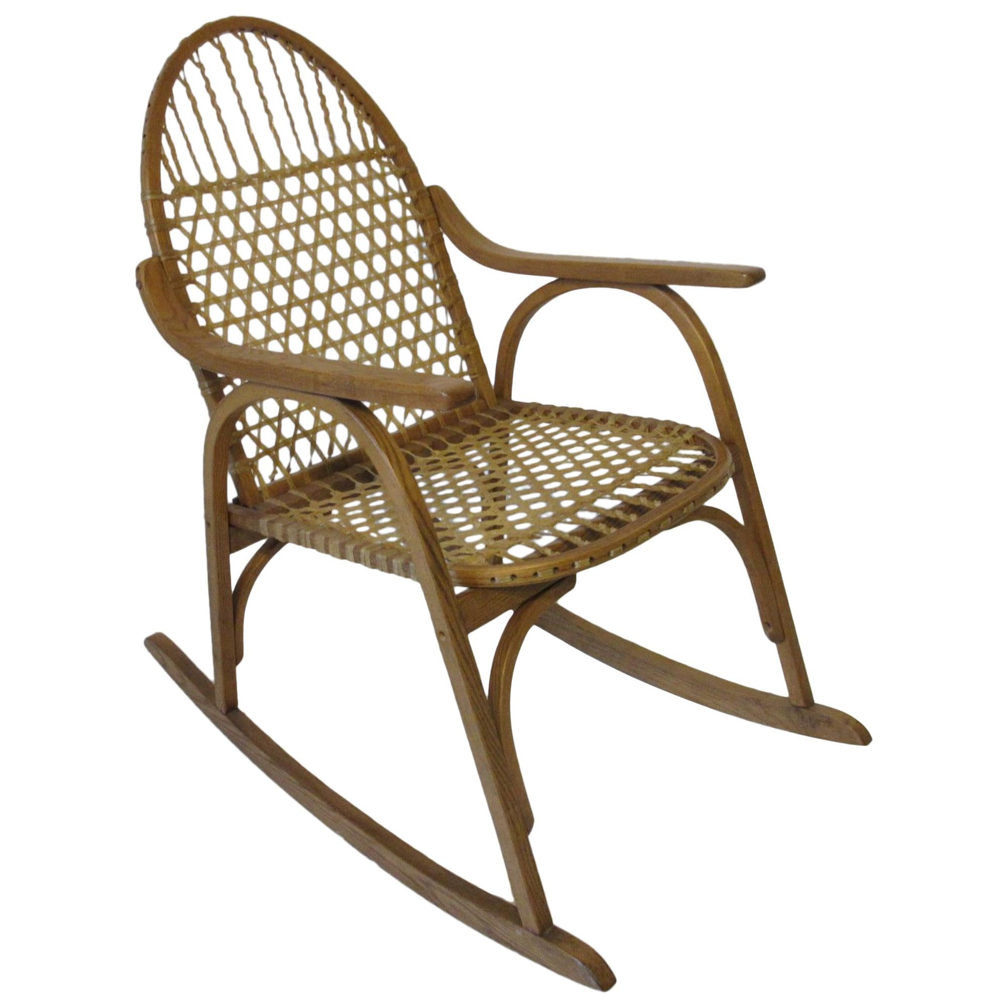Snow Shoe Styled Rocking Chair by Vermont Tubbs
