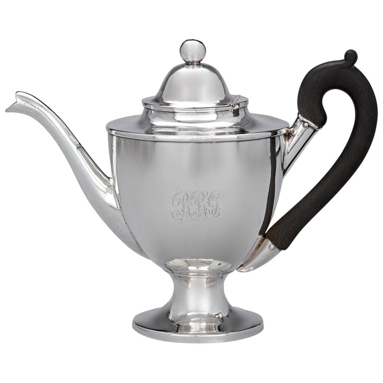 American Silver Teapot by Paul Revere For Sale