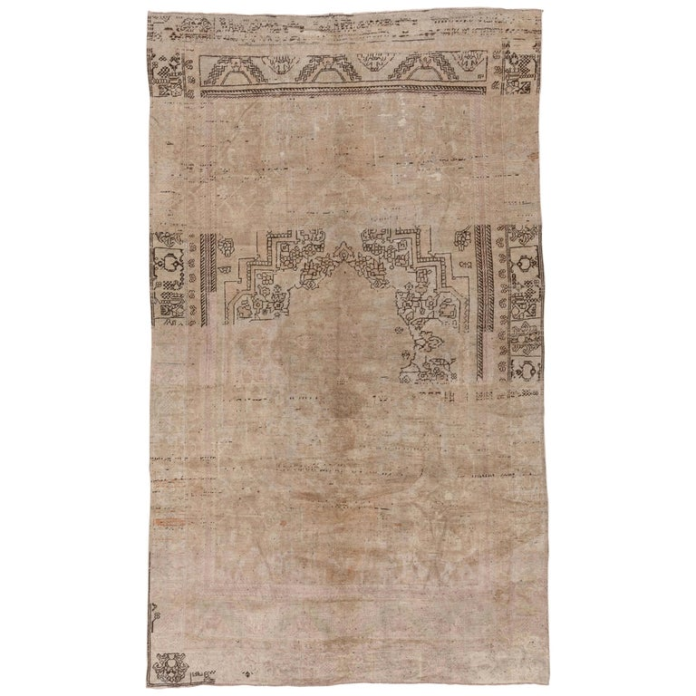 vintage unique oushak carpet neutral palette subdued colors for sale at 1stdibs 1stdibs