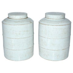 Pair of Blanc de Chine Ginger Jar with Lids
