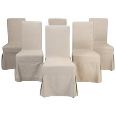 Set of 6 Slip-Cover Chairs