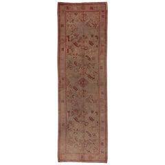 Antique Dutch Gallery Carpet, Seafoam Field, circa 1910s