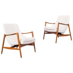Norwegian Teak Lounge Chairs by Rolf Rastad for Bokka Møbler