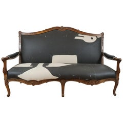 19th Century French Louis XV Style Upholstered Settee