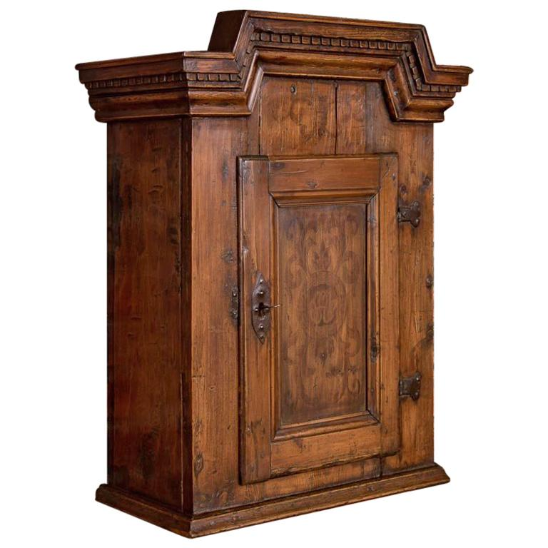 Cabinets Sale: Small Antique Hanging Wall Cabinet From Denmark For Sale