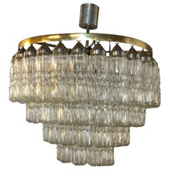 20th Century Tronchi Murano Glass Chandelier