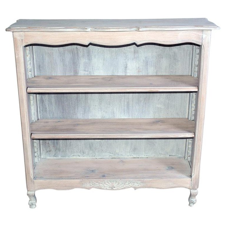 French Provincial Louis XV Style Bookshelf For Sale