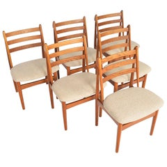 Set Of Six Poul Volther J60 Oak Dining Chairs