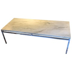 Marble-Top Coffee Table, France, Midcentury