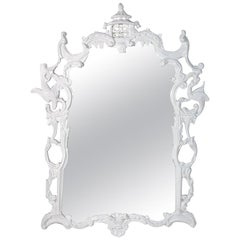 Vintage English Chippendale Style Mirror