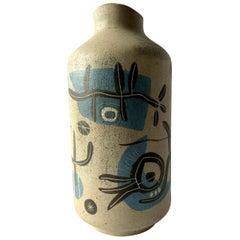 1950s Arganat Spanish Surrealist Modern Ceramic Vase