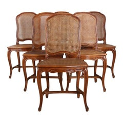 Set of Six French Cherry Dining Chairs